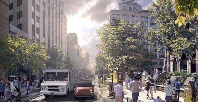 Реконструкция улицы Ste-Catherine: запланированные работы отложены до 2019 года