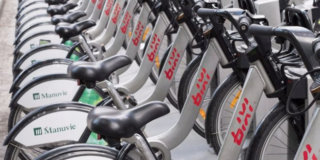 В системе BIXI появились электрические велосипеды