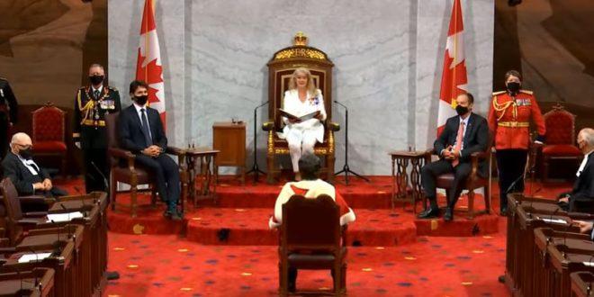 23 сентября 2020 года. Тронная речь. Повестка дня правительства Канады