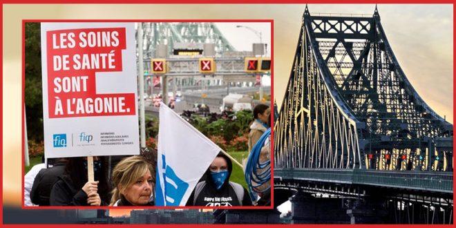 Недовольные медработники захватили мосты