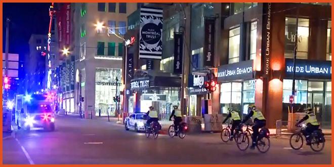 Третья ночь протестов в Монреале