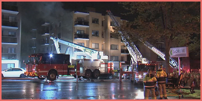 30 семей без крыши над головой: сильный пожар в Монреале